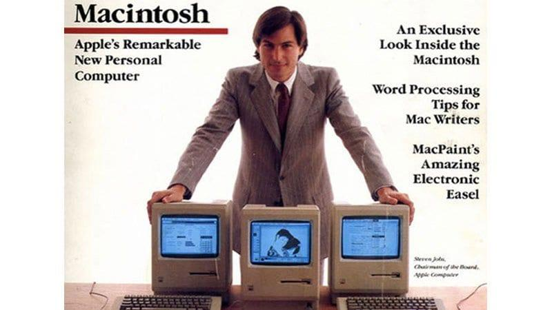 Steve Jobs in Macintosh | foto: http://cdn2.macworld.co.uk/cmsdata/features/3437525/First-Macworld_Home_Page.jpg